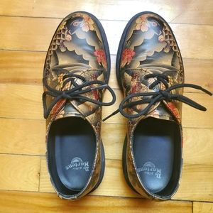 Dr Martens Koi Fish Tattoo Oxford Leather Shoes